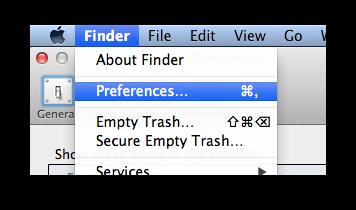 Mac: Edit Sidebar Items in Finder