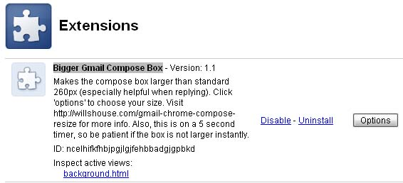 gmail compose resize for chrome