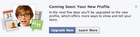Facebook Forced Profile Upgrade