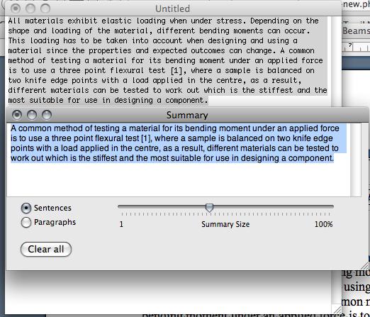 Mac / OS X Paraphrase Tool