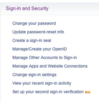 Yahoo Authorized Applications