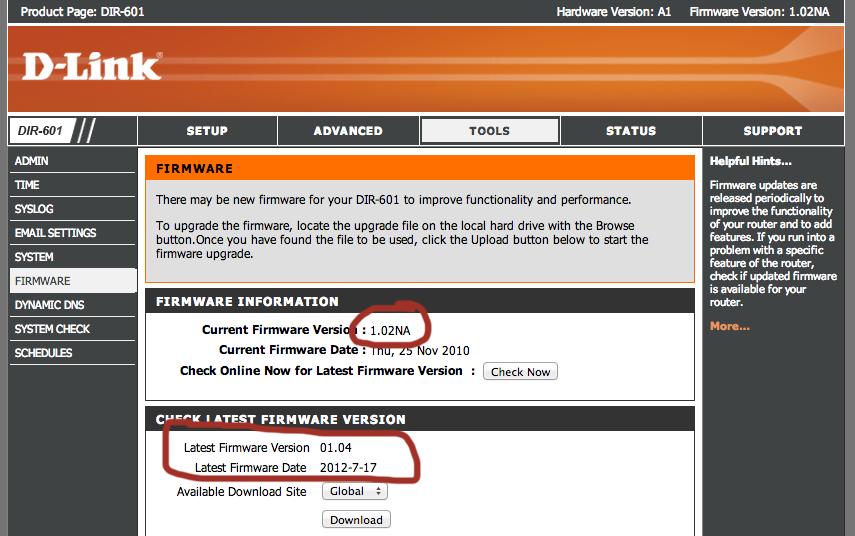 DIR-601 Firmware v 1.04