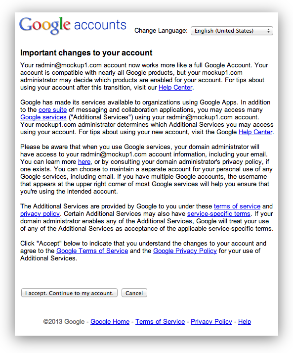 Google Apps Changes – First Round