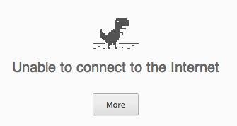 Google Chrome Dinosaur